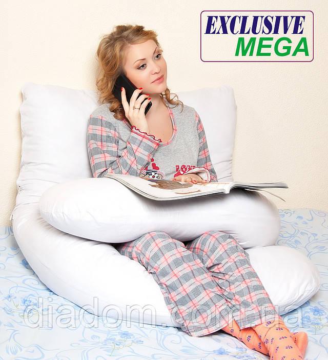 Подушка для беременных Mega Exclusive, Сидя