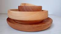 Набор посуды из дерева. Посуда деревянная набор