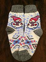 Ангоровые шерстяные носки з снеговиком