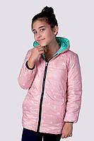 Куртка Подростковая двухсторонняя пудра и мята мальчик+девочка