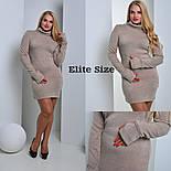 Женское стильное платье больших размеров из ангоры (3 цвета), фото 6