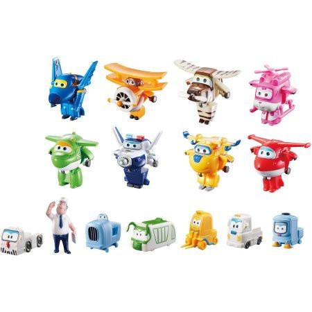 Супер крылья Джетт и его друзья мега набор Самолеты-трансформеры 15 фигурок Super Wings