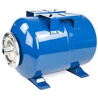 Бак для насосной станции на 50 литров. Гидроаккумулятор  Hidroferra STH 50 (горизонтальный)