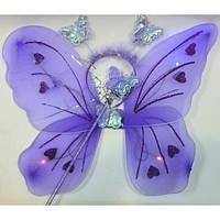 Набор крылья бабочки светящийся и палочка