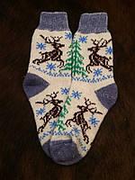 Ангоровые женские носочки с рисунком оленей