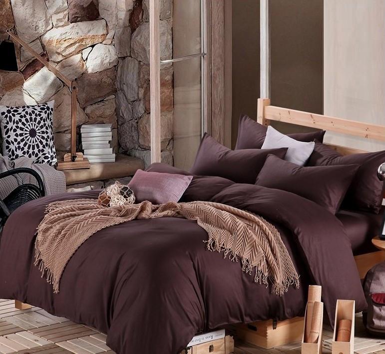 Комплект постельного белья полуторный, сатин Dark Brown