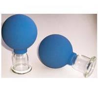 Банки сухие вакуумные полимерно-стеклянные №2 в инд. упаковке для шейного массажа