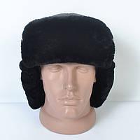 Чоловіча шапка- вушанка з натуральної шкіри на хутрі d4de17bcb439e