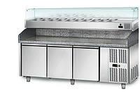 Холодильный стол для пиццы GGM Gastro POS208#AGS204