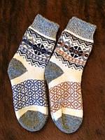 Шерстяные ангоровые носки с орнаментом