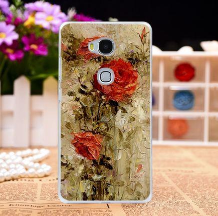 Яркие оригинальные чехлы для Huawei GR5 Honor 5X с картинкой Красные розы