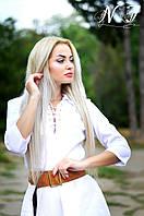 Длинное бежевое платье с поясом. Арт-8604/72