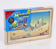 Игра детская деревянная Доска с магнитами фигрками