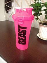 Шейкер Beast Hydra Cup 2.0 Dual Shaker Cup розовый c перламутровым оттенком, фото 2