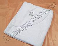 Крестильное полотенце -крыжма на махре с уголком белое