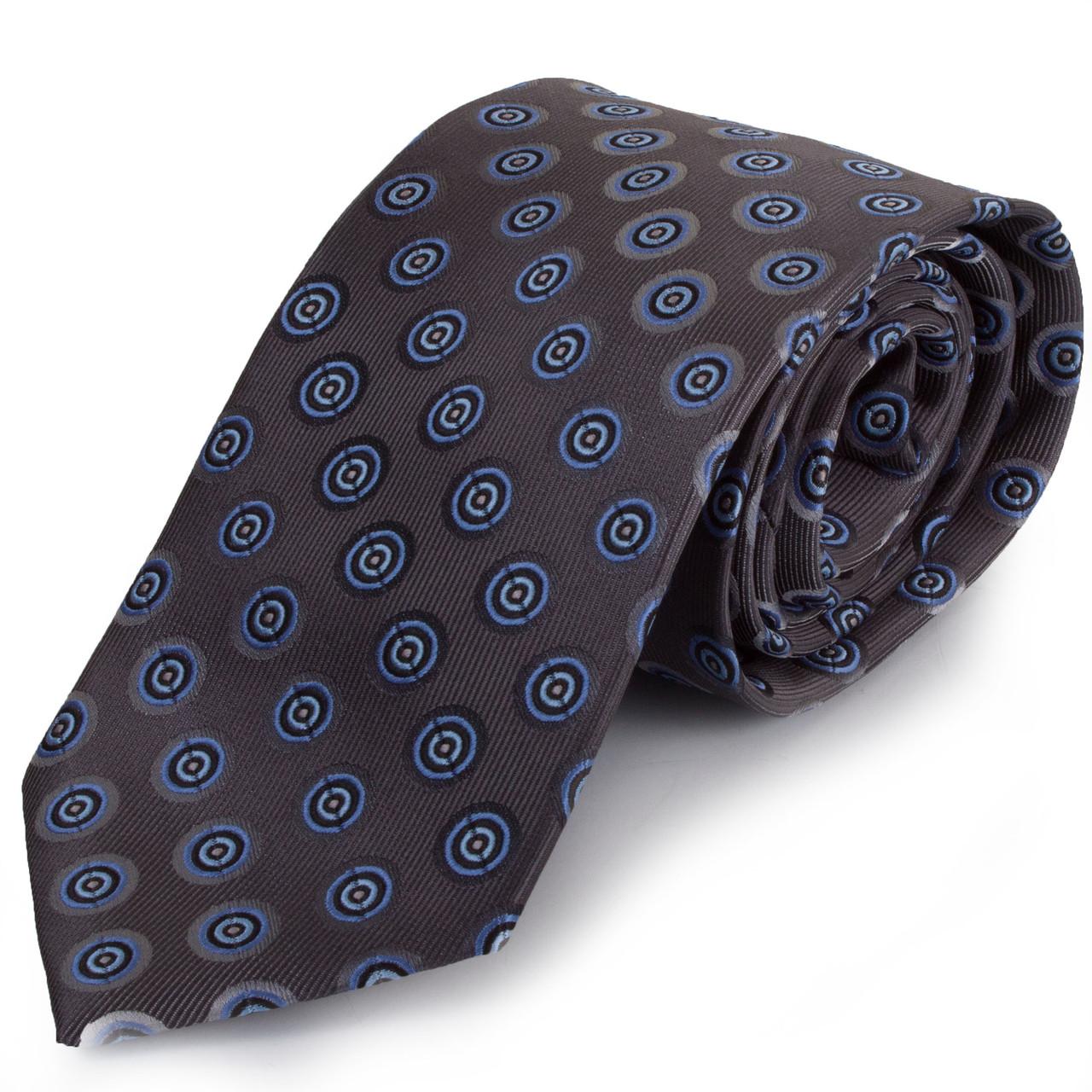 Оригинальный мужской широкий галстук SCHONAU & HOUCKEN (ШЕНАУ & ХОЙКЕН) FAREPS-44 синий