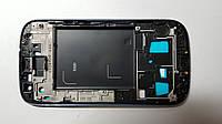 Рамка дисплея  Samsung I9300, Galaxy S3 серебристая original.