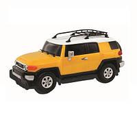 Автомодель - TOYOTA FJ CRUISER (ассорти желтый, голубой,1:26, свет, звук, инерц.)