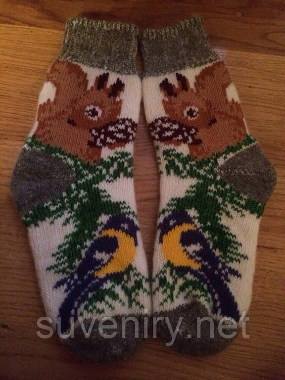 Женские ангоровые носки с белочкой
