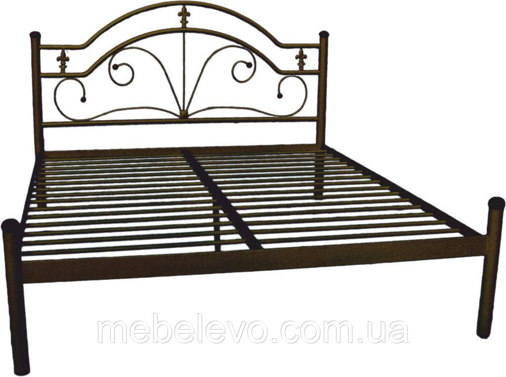 Кровать полуторная Диана на деревянных ногах 140 Металл-дизайн