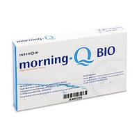 Месячные контактные линзы из биосовместимого материала Morning Q BIO (уп. 6 шт)