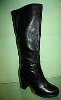 Женские зимние кожаные сапоги ТМ  Lonza