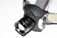 Фонарь налобный встроенный аккумулятор Police с зумом влагозащищенный