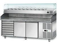 Холодильный стол для пиццы GGM Gastro POS208S#AGS204