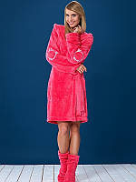 М'який жіночий халат середньої довжини на запах L&L DUFFY розмір L