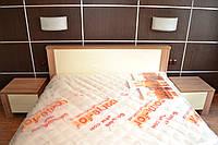 Кровать 2х -спальная под структуру дерева