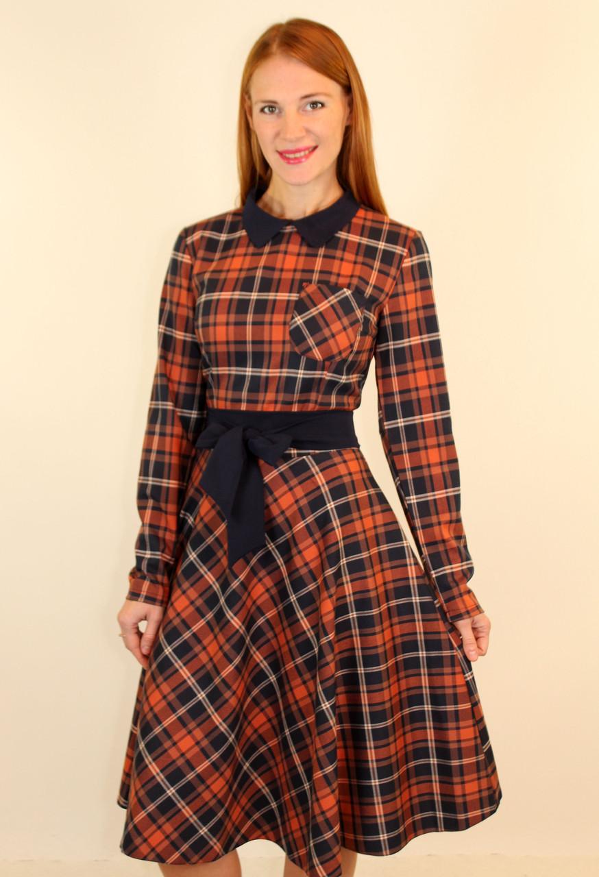 Платье миди с пышной юбкой клеш 44-50 р ( разные цвета )