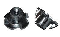 Гайка М8 упорная врезная (мебельная) DIN 1624 (упаковка 200 шт)