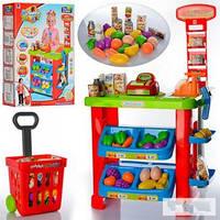 Игровой набор Супермаркет с тележкой 661-80, касса, весы, сканер, продукты, звук, 45*63*15,5см