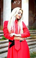 Шикарное красное платье в пол со съемным галстуком  Арт-8606/72