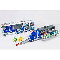 Игровой набор Щенячий патруль, трейлер Paw Patrol XZ-355, 2 фигурки с авто, дорожные знаки, ручки