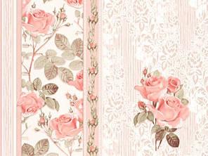 Обои на стену, цветы, крупные цветы, мелкие цветы, светлые, бумажные, B27,4 Аллан 8088-01, 0,53*10м, фото 2