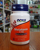 Мелатонин NOW Melatonin 3 mg 60 caps