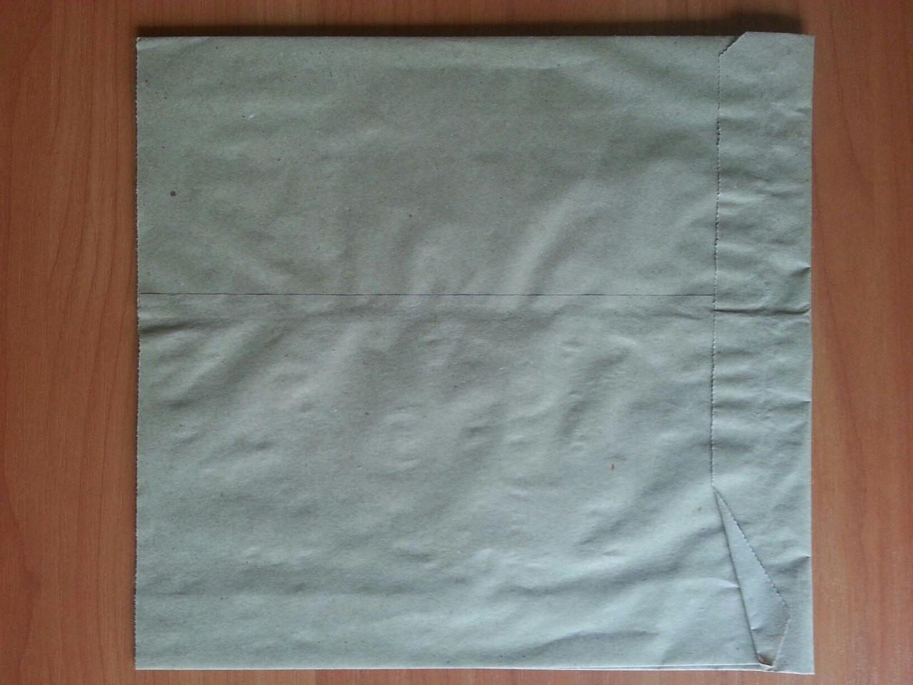 Бумажный пакет саше бурый 220х200х40 (909)
