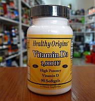 Витамины и минералы Healthy Origins Vitamin D3 1000 IU 90 softgels
