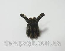 Ножка декоративная-12, бронза, 3,4х4.3см, металл.