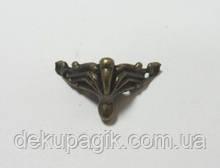 Ножка декоративная-7, бронза, 2,7х2см, металл.