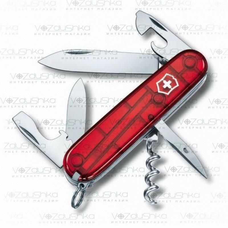 Нож Victorinox Spartan 1.3603.t красный прозрачный, 13 функций