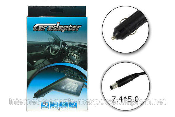 Автомобильное зарядное устройство для ноутбука HP 19V 4.74A 90W (7.4/5.0)