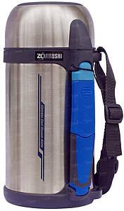 Термос ZOJIRUSHI SF-CС13ХA 1.3L, серебро (складная ручка+ремешок)