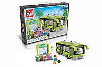 Конструктор BRICK 1121 автобус, зупинка, фігурки, 420 дет., кор., 41-29-6,5 см