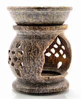 Аромалампа из мыльного камня 8,2х6,5х6,5см (5503)