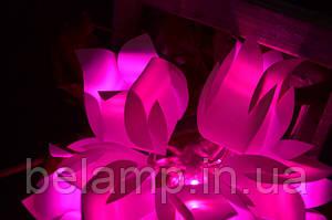 Премьера! Новые розовые и сиреневые гирлянды на батарейках из тюльпанов! Купить в Украине  такие можно только у нас!