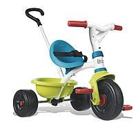 Детский металлический велосипед с багажником, зелено-голубой, 15 мес.