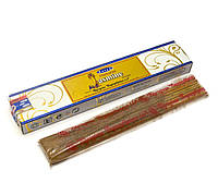 Аромапалочки - благовония Natural Jasmine (Натуральный Жасмин) (15 грамм) (Satya) пыльцевое благовоние