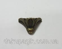Ножка декоративная-8, бронза, 2,0х1,8см